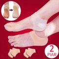 2 par de silicone calcanhar capa proteção do pé para almofada de sapato homens mulheres meias 2018 novo protetor silicone seco crack hidratante gel
