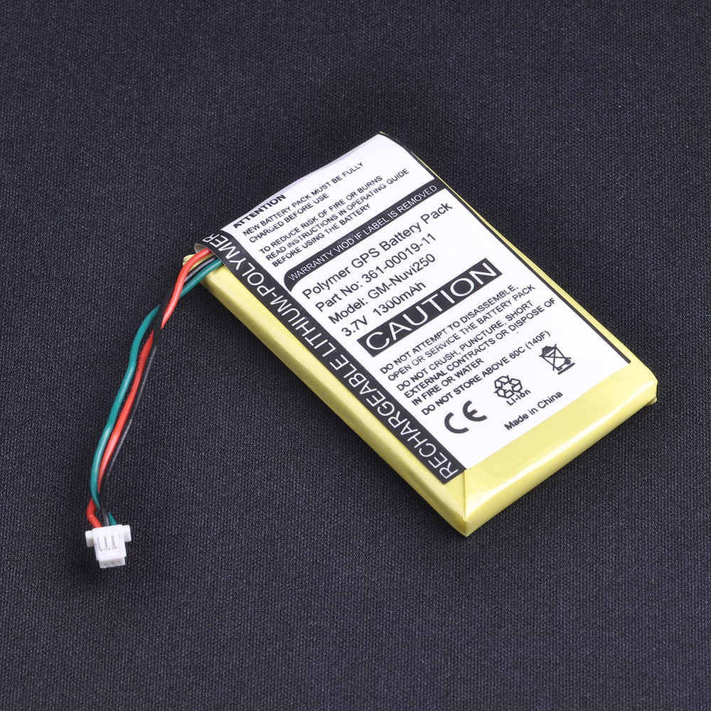 1Pc 1300mAh 3.7V GPS Battery For Garmin Nuvi 200, 200W, 205, 205W 205WT, 250 252w, 265w