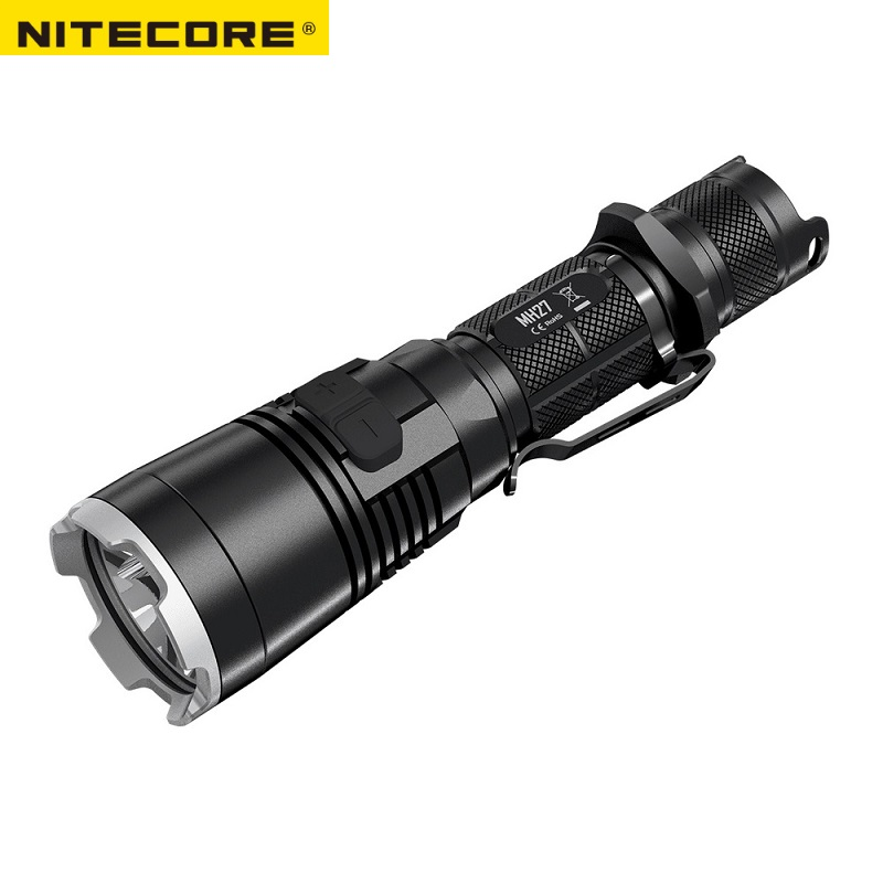 New Nitecore MH27 Flashlight CREE XP-L HI V3 LED 1000LM RGB LEDS High Bright Torch Waterproof Freeshiping