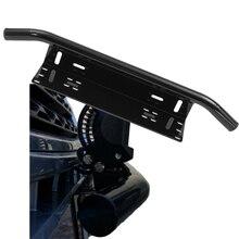 Universale Paraurti Anteriore License Plate Holder Staffa del Telaio di Montaggio Bull Bar Stile per Fuori Strada Luci di Bar LED SUV Camion Pick-Up
