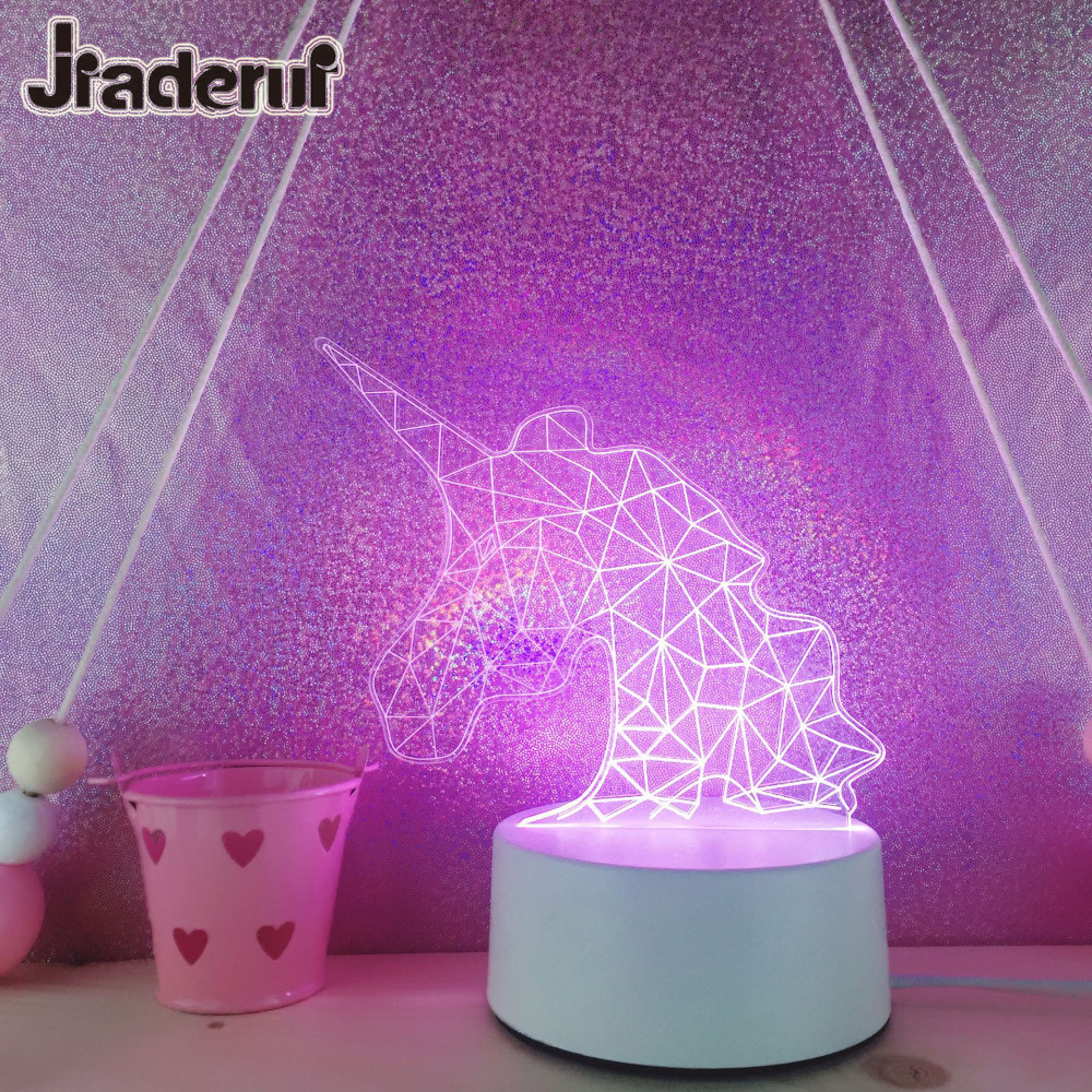 Gifts For Wedding Night: Jiaderui LED Cute Unicorn Baby Table Lamps Kids Night