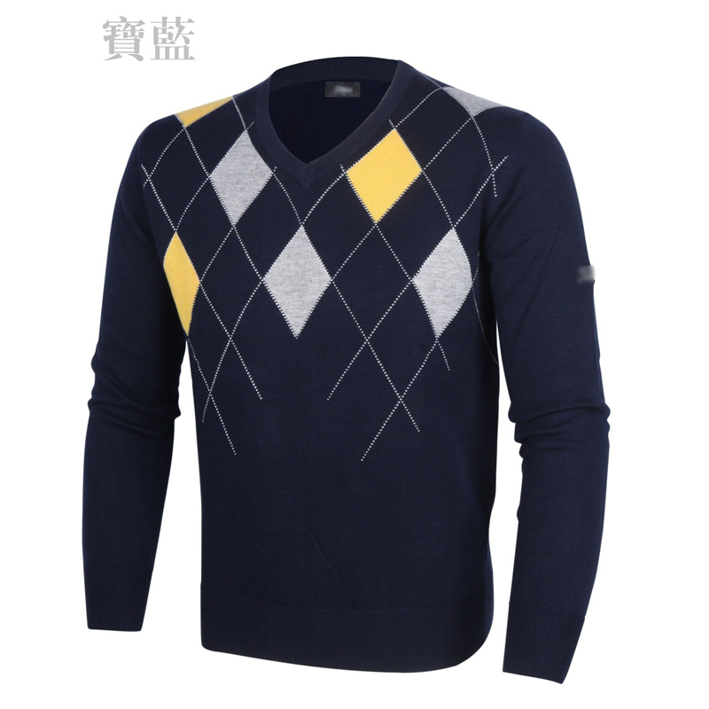 ФОТО 2016  Golf Men's   knit  Pullovers  Male  V-neck Easy-match Comfortable Sweater Long sleeve J09