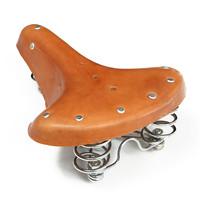 High Quality Pure Leather Outdoor MTB Road Bicycle Seat Trunk Cycling Cushion Retro Saddle Rivet Vintage
