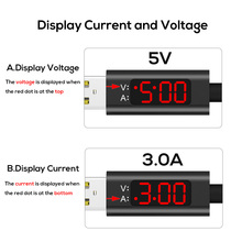 USB Type C Cable Voltage and Current Display