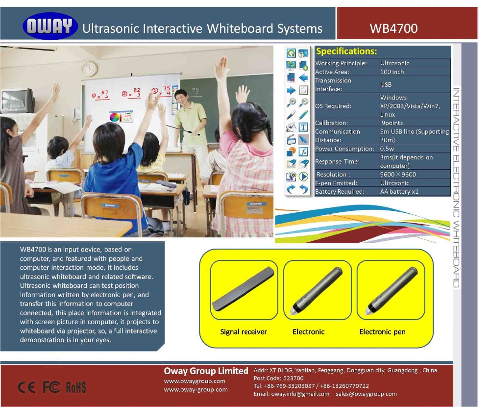 US $249 0 |Ultrasonic Interactive Whiteboard with Powerful Software for  Business-in Interactive Whiteboard from Office & School Supplies on