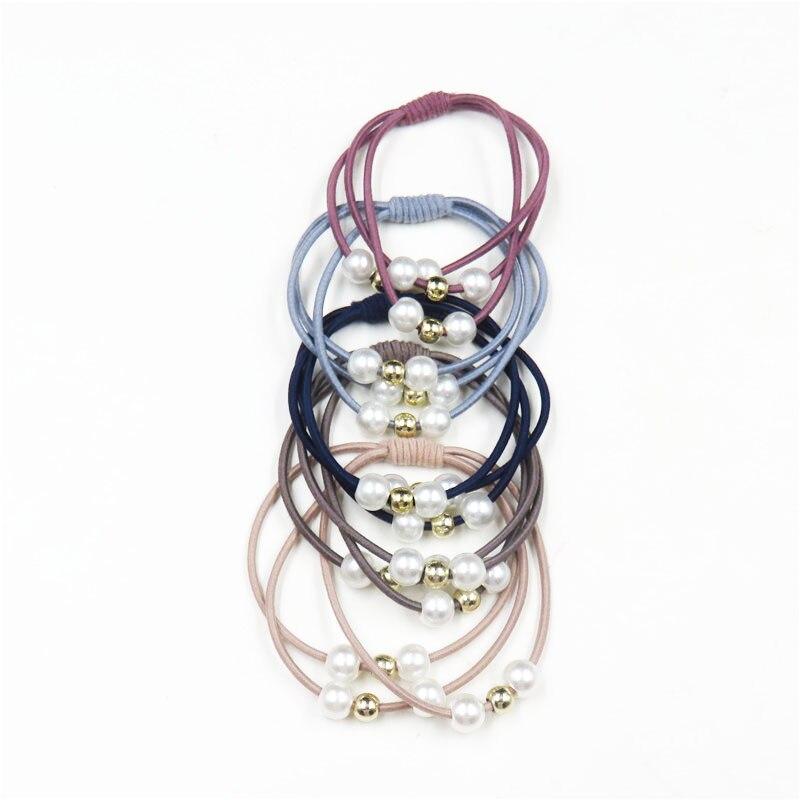 10PCS/LOT Simple Knot Elastic Hair Bands For Girls Bohemian Headband Scrunchy Korean Fashion Kids Hair Accessories For Women