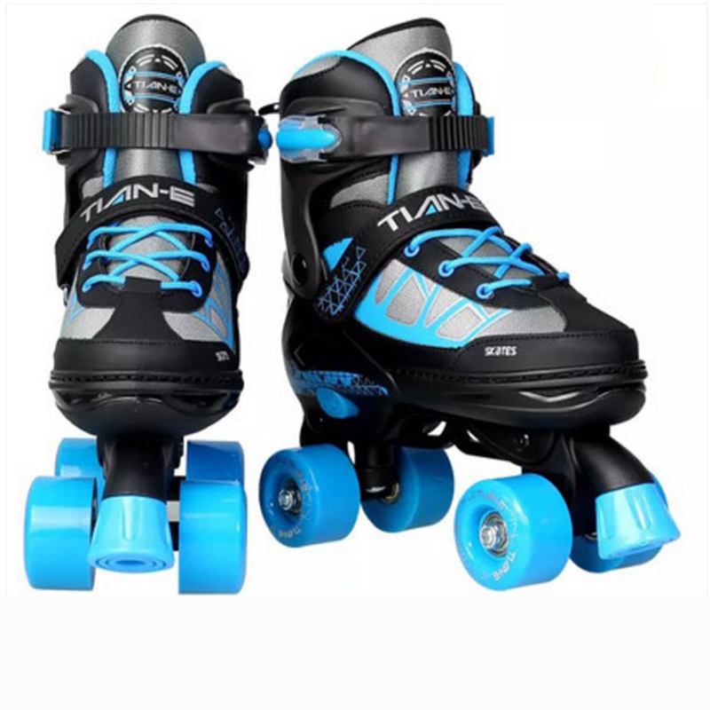 Child Roller Skates Double Row Skates Two Line Roller Skate Shoes Patins 4 Grade Adjustable For Kids ABEC-5 Four PU Wheels IB22 children adult parenting two line roller shoes skating 4 wheels double row skates patins kids pu wheels adjustable unisex ib42