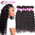 mslynn Brazilian Deep Wave 4 Bundles Mink Brazilian Hair Weave Bundles Cheap Wet And Wavy Virgin Brazilian Human Hair Bundles