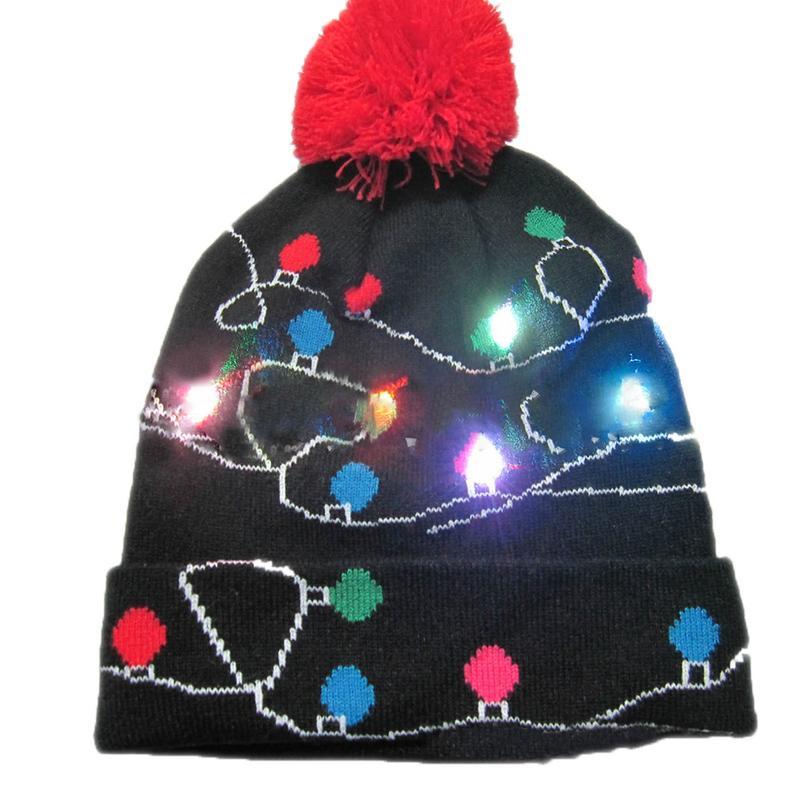 Г., 43 дизайна, светодиодный Рождественский головной убор, Шапка-бини, Рождественский Санта-светильник, вязаная шапка для детей и взрослых, для рождественской вечеринки - Цвет: 03