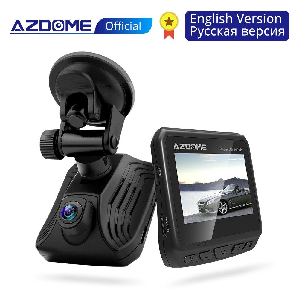 AZDOME DAB211 Ambarella A12 Car Dash Cam 2K 1440P Super Night Vision Dashcam Camera Recorder DVR With GPS ADAS Loop Recording