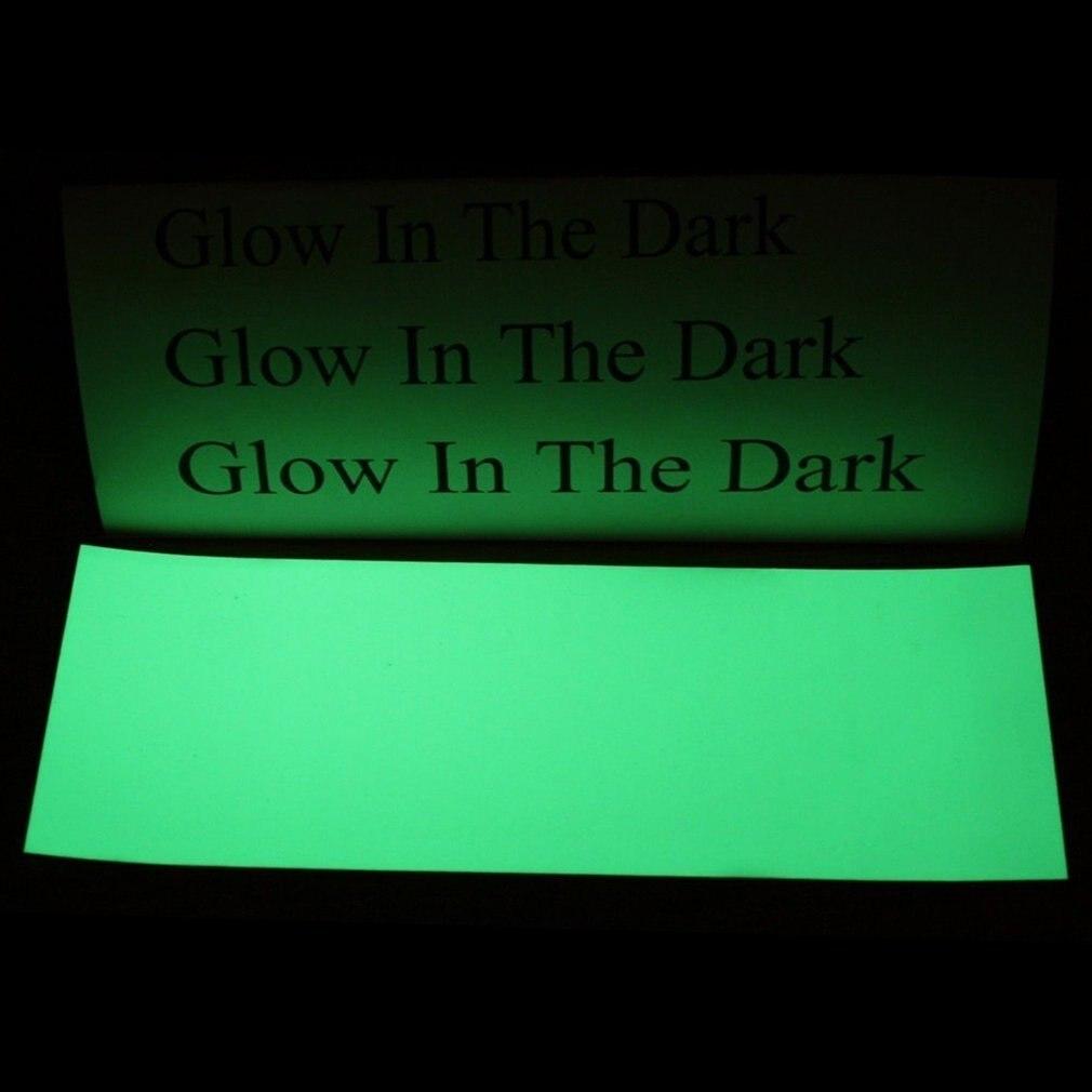 Luminous Green PET None-Radioactive Stylish 8*3 Inch Luminous Green Glow In The Dark Tape Self Adhesive Sticker Sheet