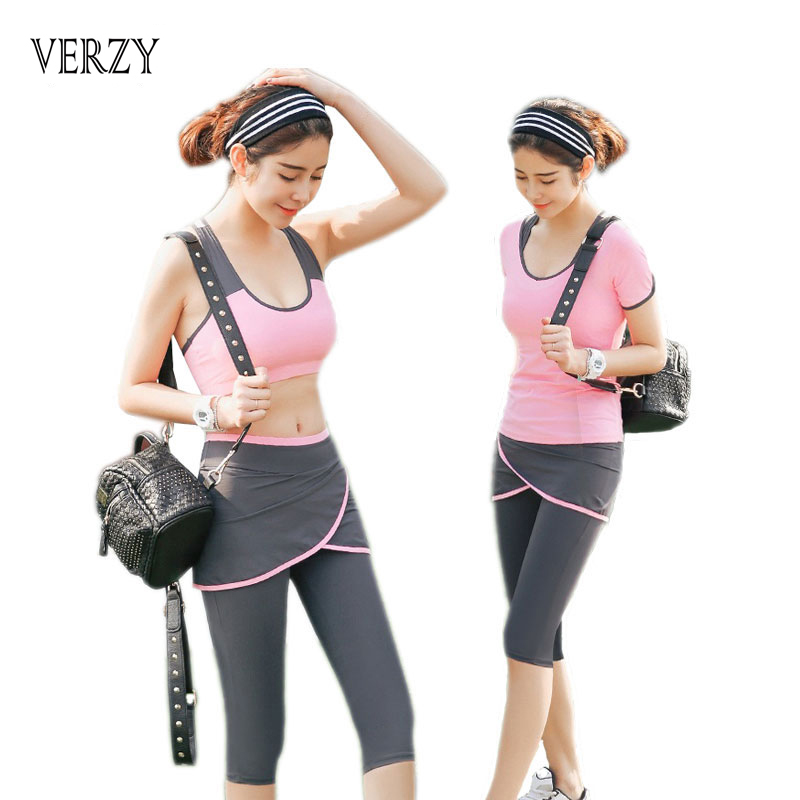 Yoga Pants Women Fitness Gym Sport Leggings Running Training Clothes Quick Dry Breathable Stretch Well Ladies Yoga Set 3 Pieces цена 2016