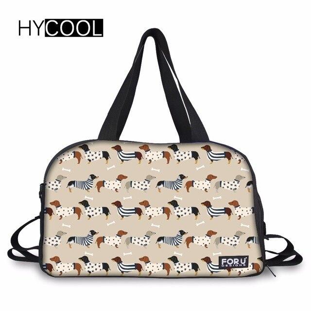 fbc8b65cfb3f HYCOOL Dachshund Dog 2018 Professional Large Sports Gym Bag With Shoes  Pocket Men Women Fitness Training Duffle Bag Yoga Handbag