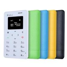 Последним INew мини 1 карты телефон 0.96 дюймов один Micro SIM клавиатура карты мобильного телефона Поддержка Bluetooth GSM 5.3 мм Ultra Slim