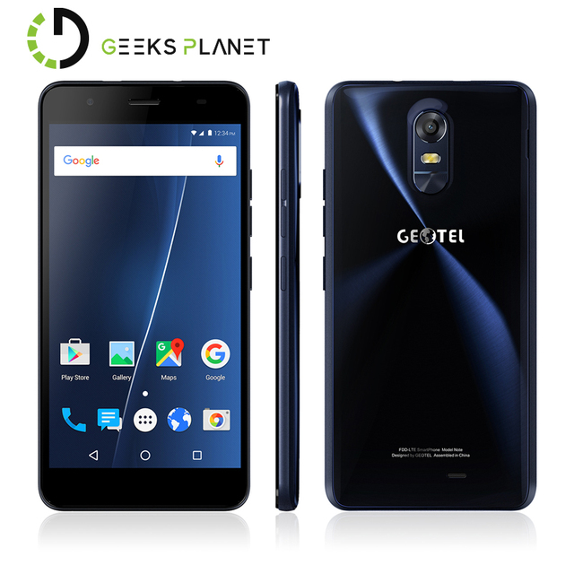 US $97 99 |Original Geotel Note Mobile Phone 3GB RAM+16GB ROM MT6737 Quad  Core 5 5 Inch HD Screen 3200mAh Android 6 0 4G LTE Smartphone-in Mobile