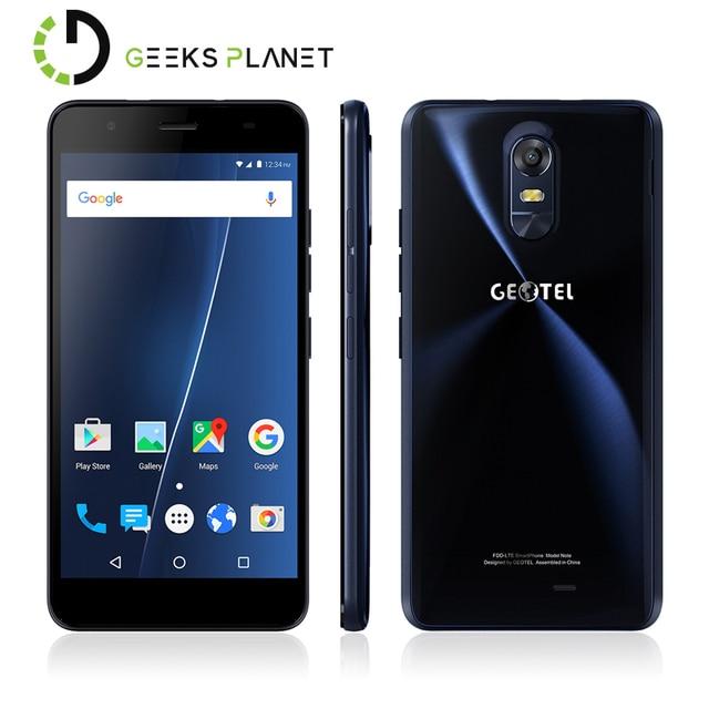 Original Geotel Note Mobile Phone 3GB RAM+16GB ROM MT6737 Quad Core 5.5 Inch HD Screen 3200mAh Android 6.0 4G LTE Smartphone