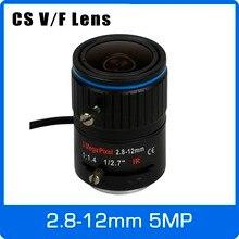 5Megapixel DC AUTO IRIS Varifocal CCTV Lens 2 8 12mm CS Mount For 1080P 4MP 5MP