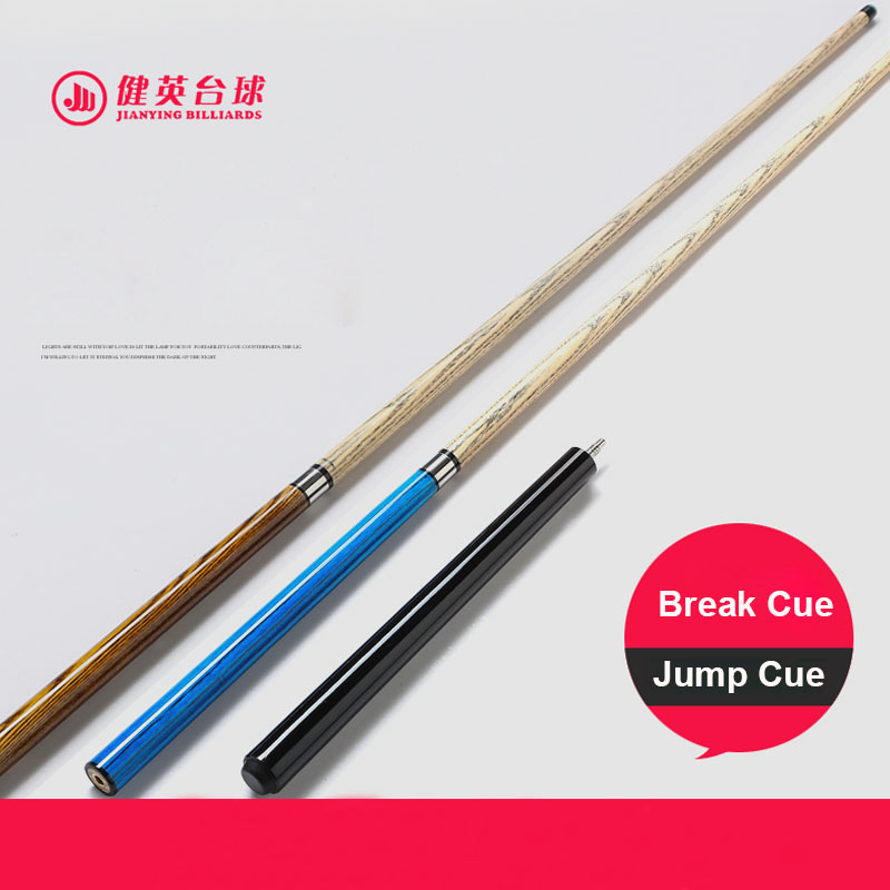 2019 New Arrival Jianying Break Pool Punch Jump Cue Stick 13mm Red Orange Blue Brown Grey