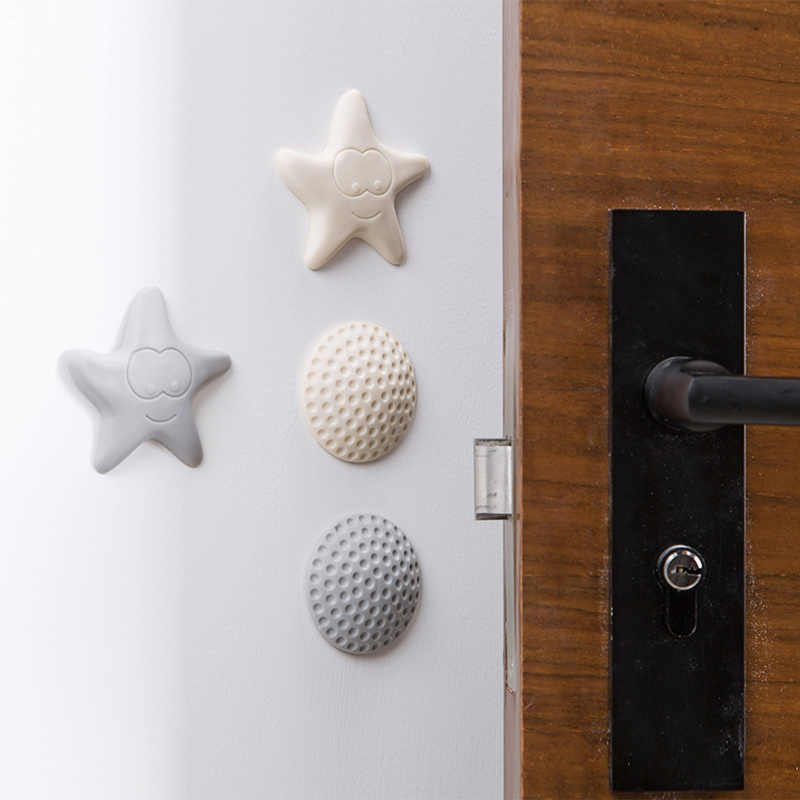 1PCS Self Adhesive Silicone Wall Protectors Door Handle Bumpers Buffer Guard Stoppers Silencer Crash Pad Doorknob Lock