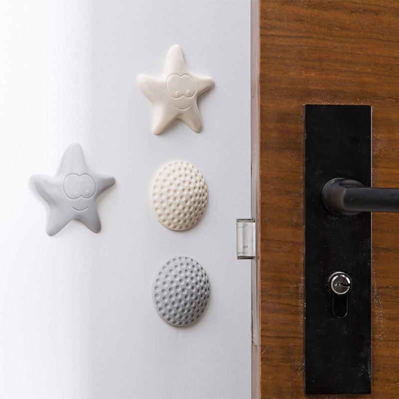 4pcs Silicone Door Handle Knob Crash Pad Wall Protect Self Adhesive Bumper oE