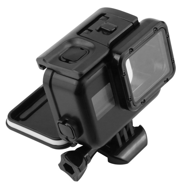 Black Waterproof Case Touch Screen Back Door For Gopro Hero 5 Underwater Housing Box For Go Pro Hero5 Action Camera Accessories