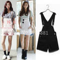 2016 women denim jumpsuit summer vintage short jeans overalls casual woman rompers mono mujer bodysuit white,pink,black