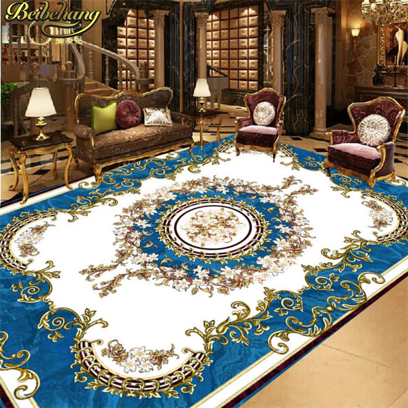 beibehang Custom European blue stone Papel De Parede 3D Mural Wallpaper Living Room Kitchen Floor PVC Self-adhesive Wall paper beibehang summer beach floor floor murals wall stickers 3d wallpaper for living room pvc floor self adhesive papel de parede 3d