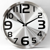 Mute Wall Metal Led Fluorescent Alarm With Hot Sale Modern Needle Large Wall Clock Fashion Personality Rustic Clock