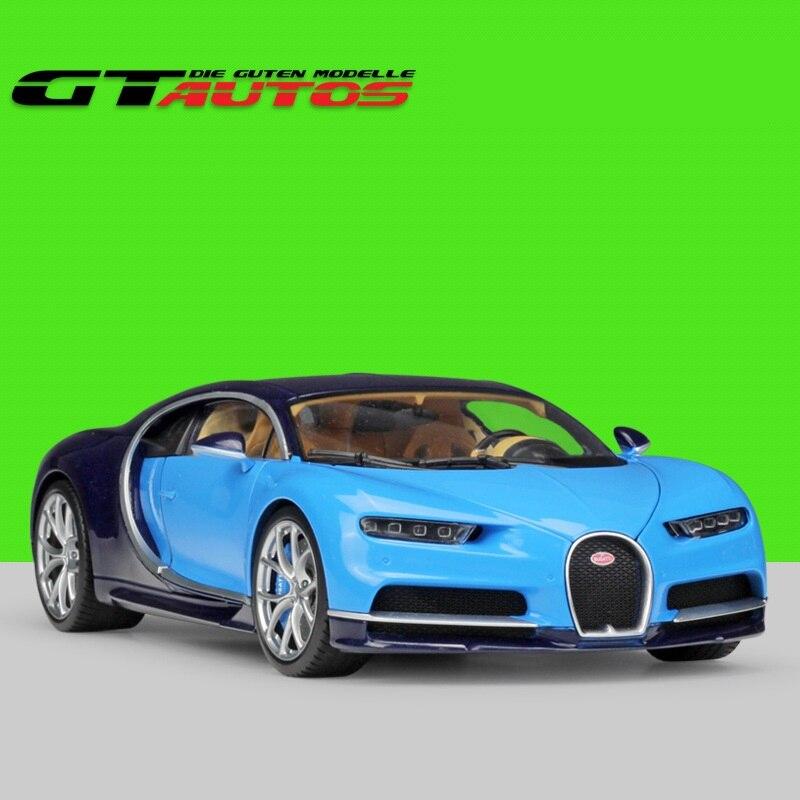 1:18 Welly GTAutos 2016 Bugatti Chiron moulé sous pression modèle de voiture