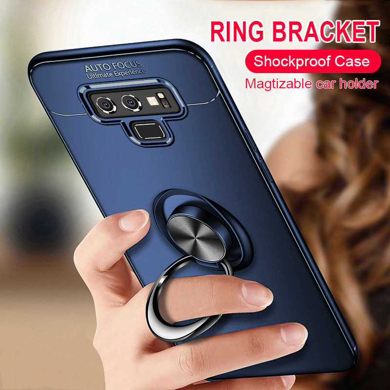 Luxury Soft Silicone Car Holder Ring Case On The For Samsung Galaxy S9 Plus S8 Plus Note 8 9 Phone Case Note 9 Shockproof Case