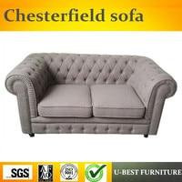 U лучшие офисные и Мебель для гостиной комплект кожаный диван Честерфилд, 2 местный диван диваны Мебель для гостиной