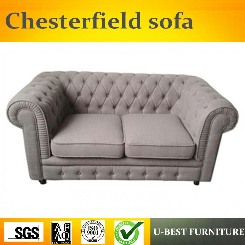 U-BEST Office And Living Room Furniture Set Leather Chesterfield sofa,2 seater sofa couches living room furniture image