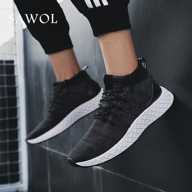 Men Casual Shoes Men Sneakers Brand Men Shoes Breathable Male Mesh Flats Loafers Spring Autumn Slip On High Quality Sawol