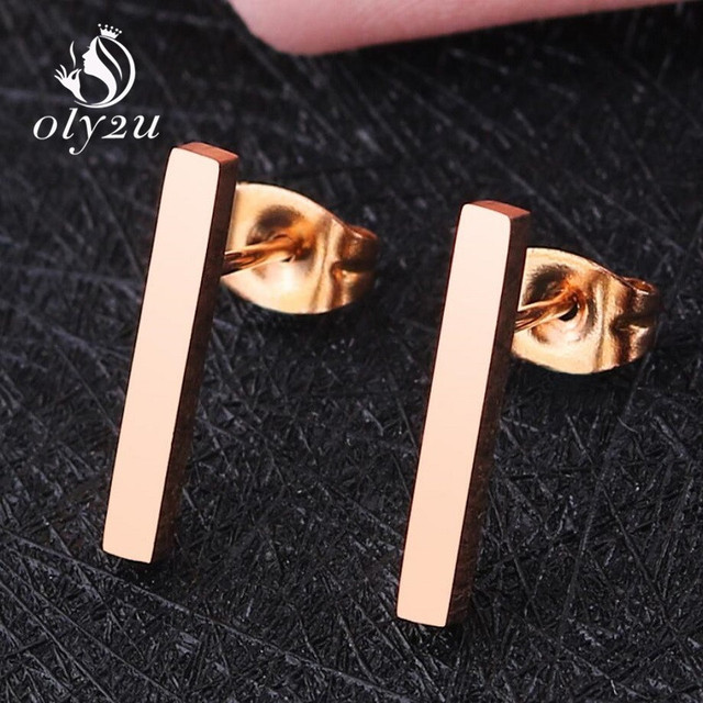 Oly2u Kpop Korean Fashion Bar Small Earrings Stainless Steel Earrings For Girls Ear Studs Man Women.jpg 640x640 - Oly2u Kpop Korean Fashion Bar Small Earrings Stainless Steel Earrings For Girls Ear Studs Man Women jewelry and Accessories