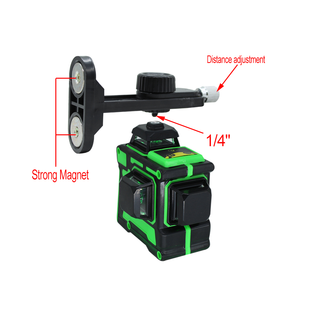 Tools : BIGGRIT A Strong 3D 12 Green Lines Laser Level  Super Powerful Laser Beam Cloth Bag  Thick Lines  Horizontal  Vertical Cross