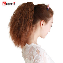 Long Curly Hair Extensions Claw Clip In Ponytail Heat Resistant Fake Hair Pony 4 Colors for Women AOSIWIG(China)