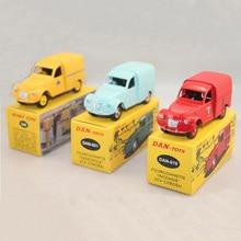 Lots of 3pcs Atlas 1:43 Diecast Toy cars 3 Citroen 2CV Dinky Toys 560+DAN-019+ DAN-021 Metal Models