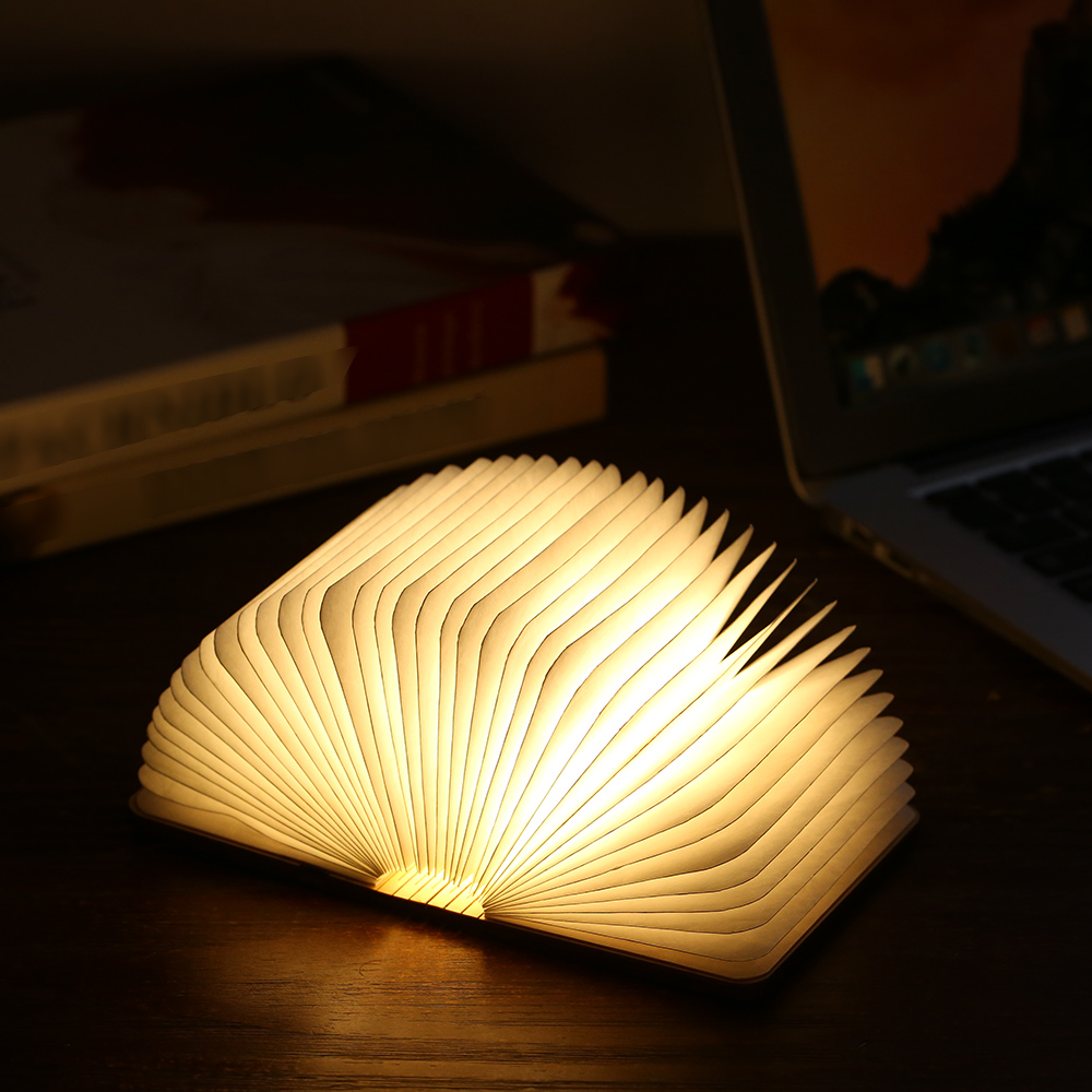Tomshine Foldable Book Light 5V 2W 8 LED Mini Folding Book Light USB Powered Portable Desk Bedside Night Light For Home Decor