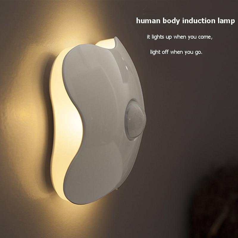 Беспроводной движения Сенсор свет Батарея Мощность ночник для ящика шкафа Лестница Семин ...