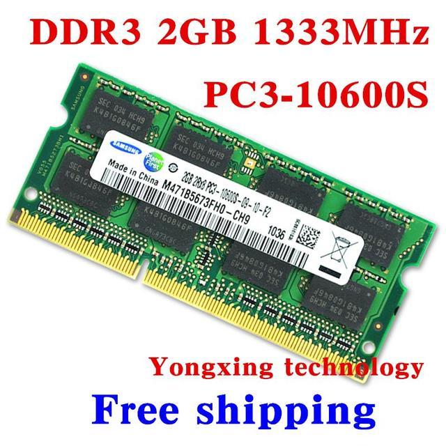 Пожизненная гарантия для samsung DDR3 2 ГБ 1333 мГц PC3 10600 S DDR 3 2 г портативный ноутбук памяти первоначально подлинное 204PIN SODIMM