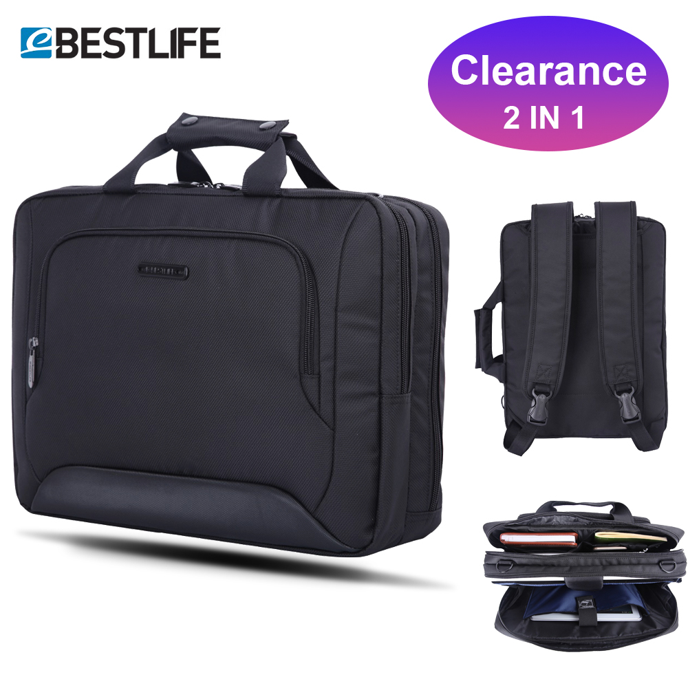 Bestlife Three Way Carry Business Men Briefcase Backpack Handbag Travel Office Laptop Protection Multifuntion Bag