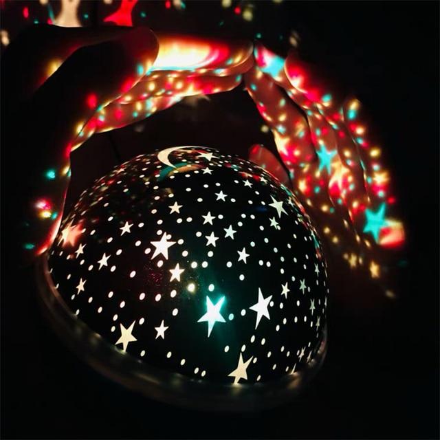 Novelty Luminous Toys Romantic Starry Sky LED Night Light Projector Battery USB Night Light Creative Birthday Toys For Children 4