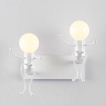 Детские Настенные светильники, детские настенные бра, светильник, современный дизайн, скандинавский стиль, для комнаты, белый, черный, E27, ин...