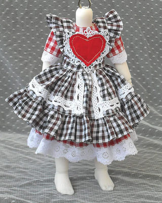 doll accessories bjd clothes 1/3 1/4 1/6 plaid heart love cute baby doll hani gaby uril dress fashion style in doll accessories bjd clothes 1/3 1/4 1/6 plaid heart love cute baby doll hani gaby uril dress fashion style in