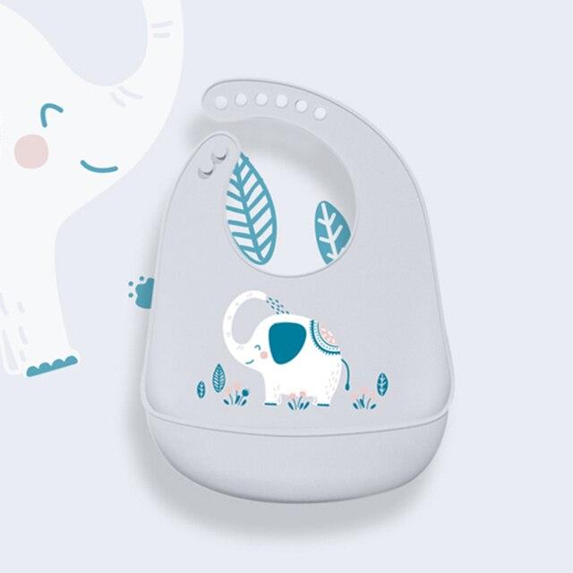 Baby Bibs Waterproof Silicone Feeding Baby Saliva Towel Newborn Cartoon Aprons Baby Bibs Adjustable Burp Cloths Bandana