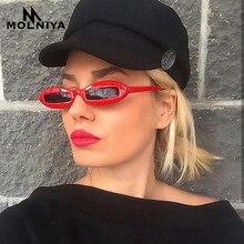 MOLNIYA 2018 Retro Oval óculos de Sol Das Mulheres Designer De Marca  Retângulo Branco Preto Óculos Pequeno Quadro Óculos de Sol . 03da9ddeee