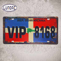 VIP 8168 Vintage Car License Plate Bar Pub Cafe Poster Retro Tin Metal sign Wall Stickers Decor 15*30cm