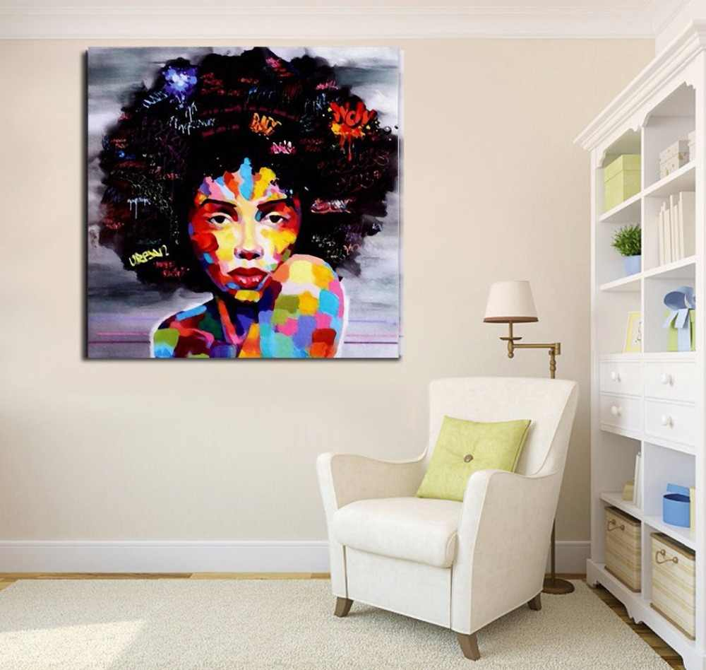 Portrait Wall Art Abstract Nude American Women African Wall Art Canvas  Painting for Living Room Wall Decor Poster Drop Shipping