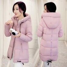 New Winter Jacket Women Hooded Thicken Coat Female fashion Warm Outwear Down Cotton-Padded Long Wadded Jacket Coat Parka WU53