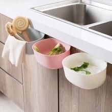 Бытовая подвесная дверца шкафа мусорная банка Бытовая незакрытая коробка для хранения кухня пластиковая корзина для мусора Мини ящик для мусора